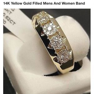 14kt  yellow gold filled Cz rhinestone band